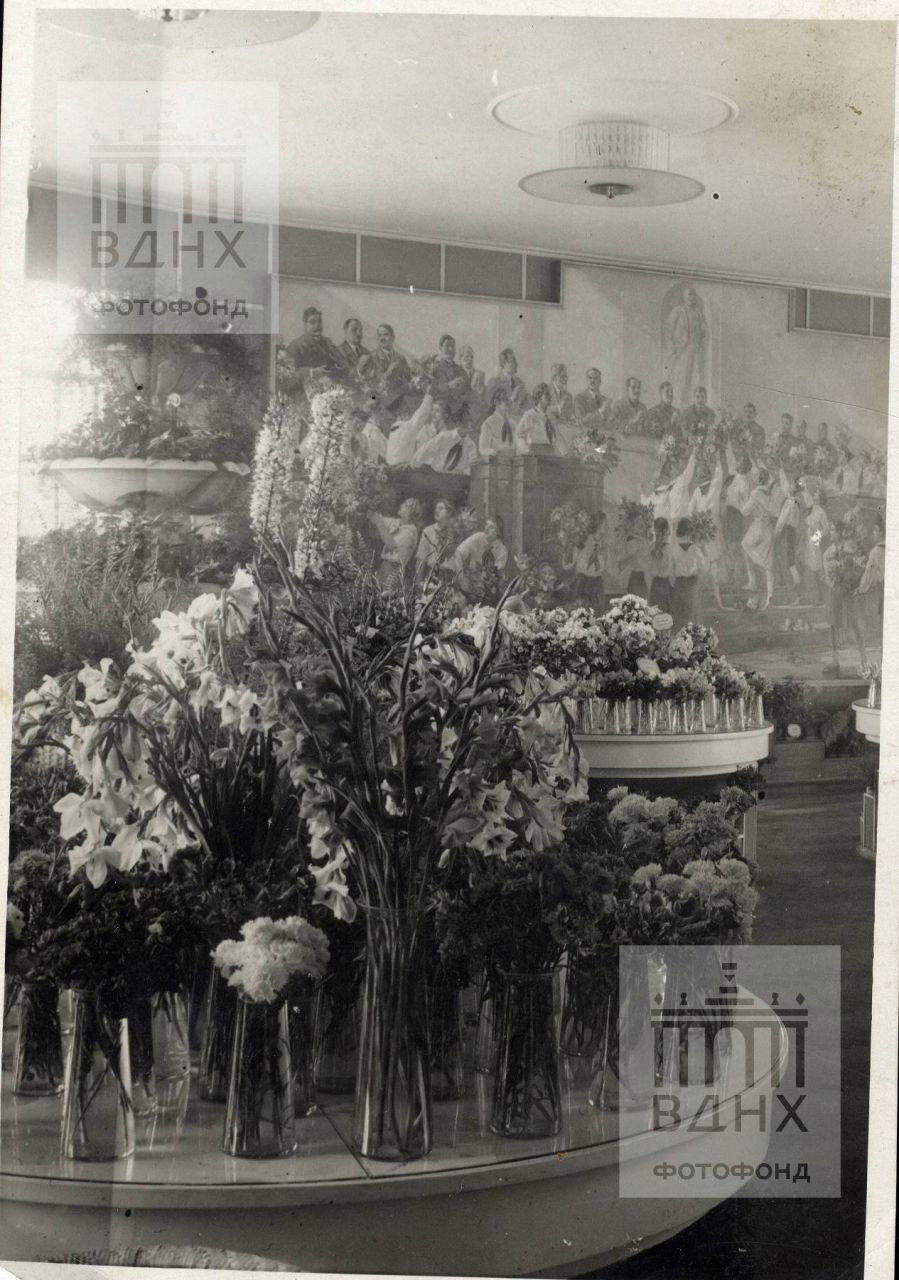 """Павильон """"Садоводство"""". Выставка гладиолусов."""
