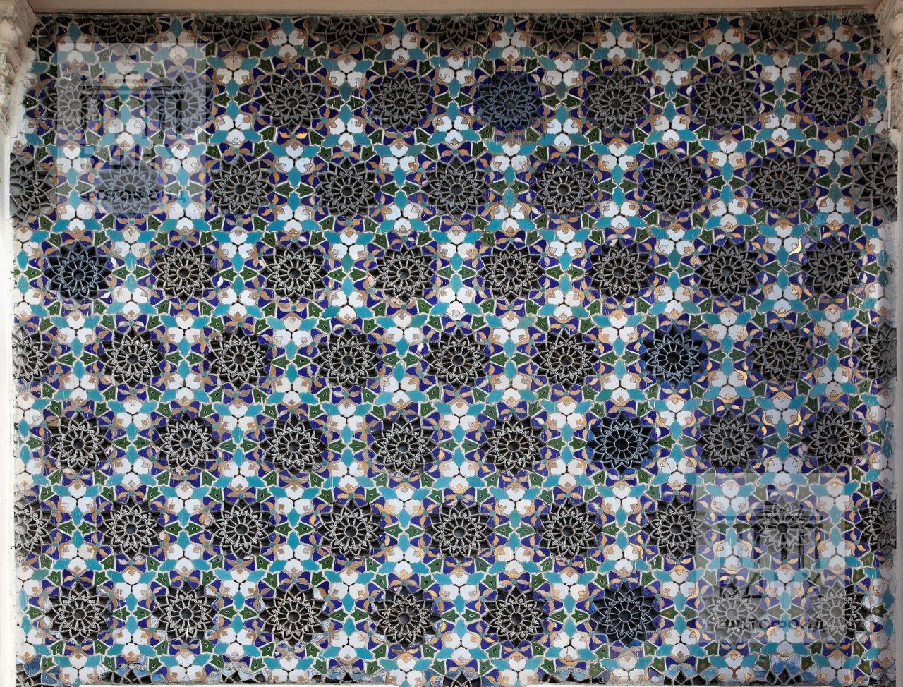 Павильон Узбекской ССР на Всесоюзной сельскохозяйственной выставке, Москва. 1954 год. Декоративное оформление главного входа