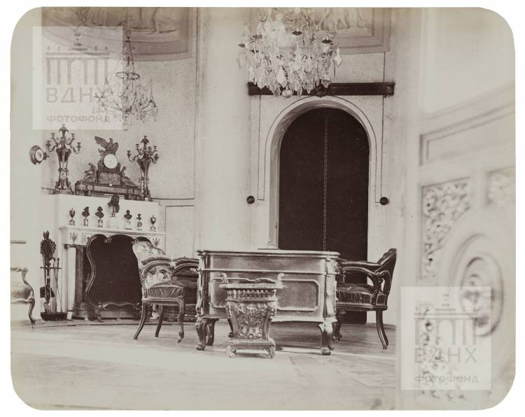 Останкинский дворец. Ротонда. Кабинет императора Александра II. 1868-1870