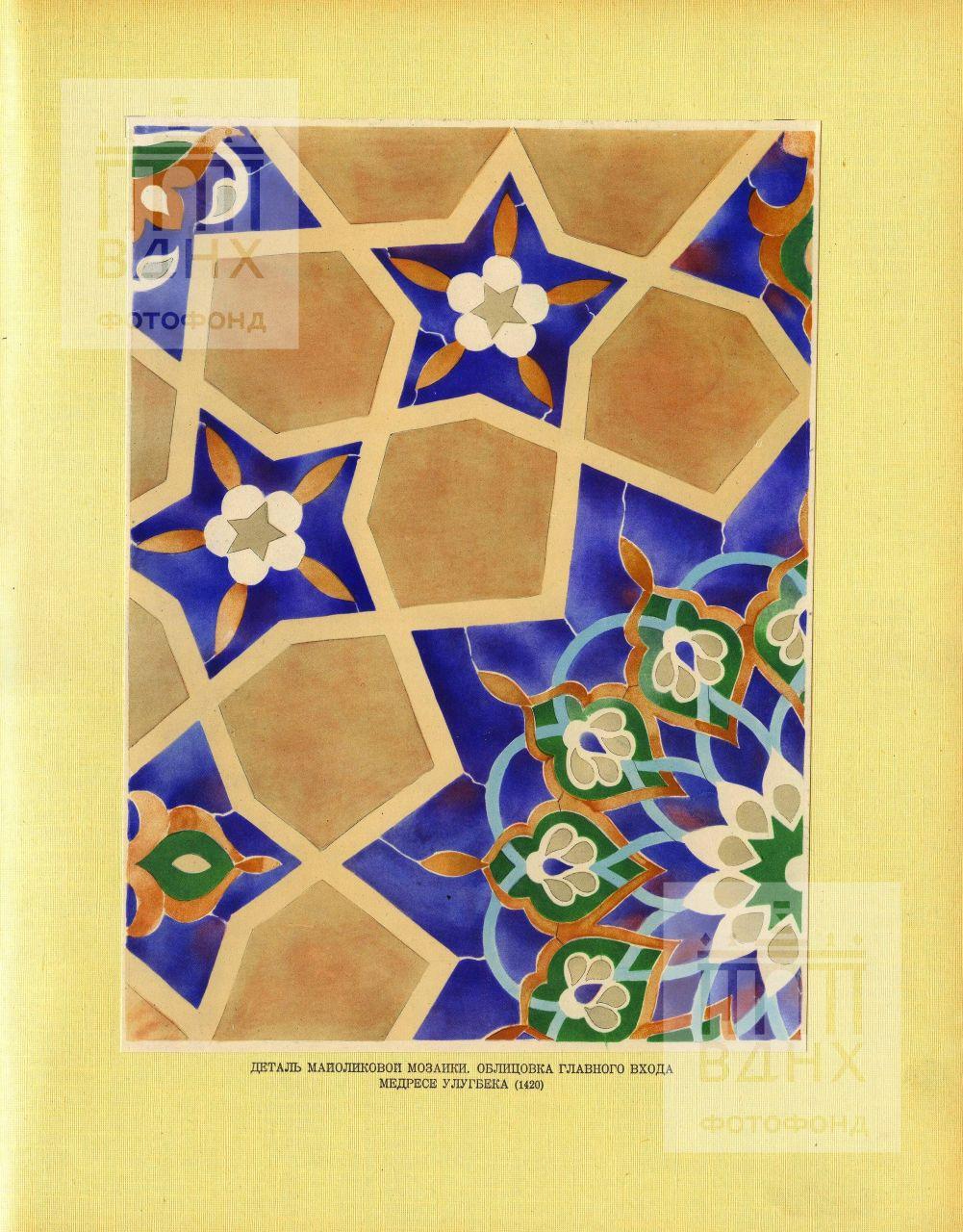 Иллюстрация из книги С.Н.Полупанова «Архитектурные памятники Самарканда»