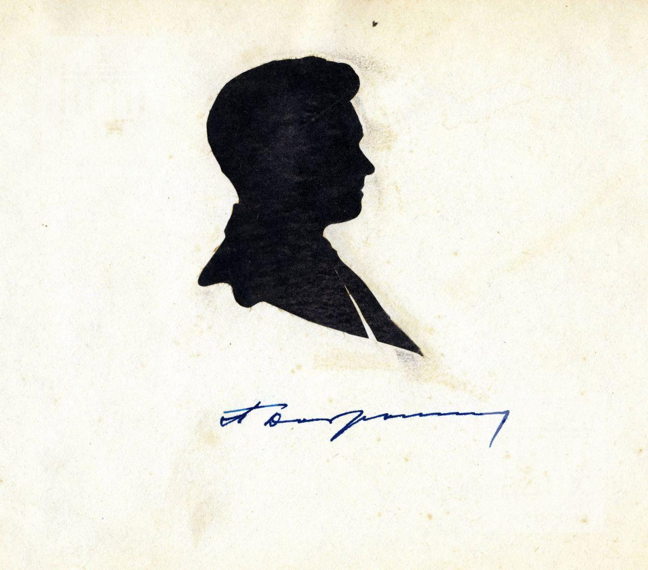 Скульптор П.И. Добрынин, профильный портрет